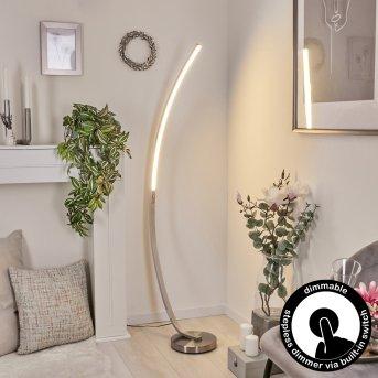 Lampadaire Kimbolton LED Nickel mat, 1 lumière