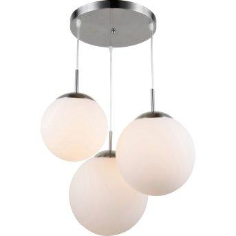 Suspension Globo JOEL Nickel mat, 3 lumières