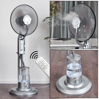 Ventilateur Milau Gris, Argenté, Télécommandes