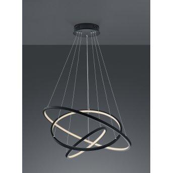 Suspension Trio Aaron LED Anthracite, 1 lumière, Télécommandes, Changeur de couleurs
