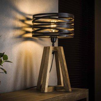 Lampe de table BEILEN Bois foncé, 1 lumière