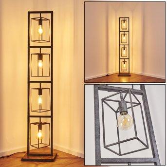 Lampadaire Westbroek Argenté, 4 lumières