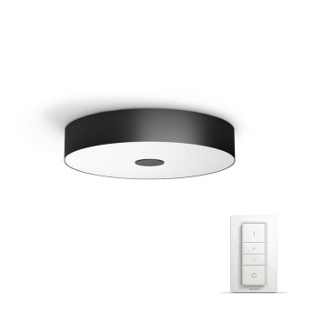 Plafonnier Philips Hue Ambiance White Fair LED Noir, 1 lumière, Télécommandes