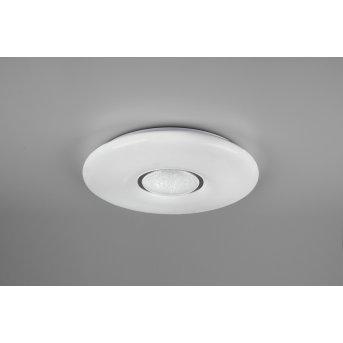 Plafonnier Reality Lia LED Blanc, 1 lumière, Changeur de couleurs