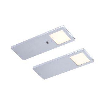 lampes pour bandeaux Paul Neuhaus AMON LED Argenté, 2 lumières, Détecteur de mouvement