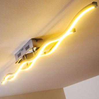 Plafonnier Paul Neuhaus EMMA LED Acier inoxydable, 2 lumières