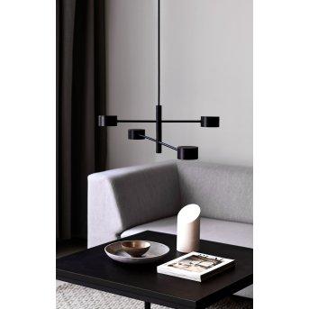 Suspension Nordlux CLYDE LED Noir, 4 lumières