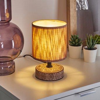 Lampe de table Kigombo Noir, Gris, 1 lumière