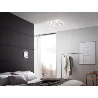 Plafonnier Grossmann AP LED Gris, Aluminium, 4 lumières