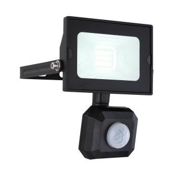 Spot de jardin Globo HELGA LED Noir, 1 lumière, Détecteur de mouvement