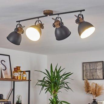 Plafonnier Banjul Gris, Blanc, 4 lumières