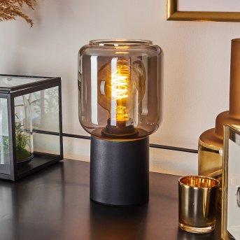 Lampe de table Keppoch Noir, 1 lumière