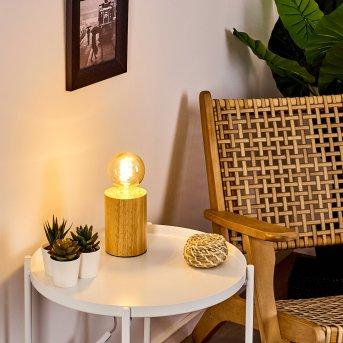 Lampe de table Castellar Bois clair, 1 lumière