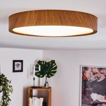 Plafonnier Nexo LED Bois foncé, 1 lumière