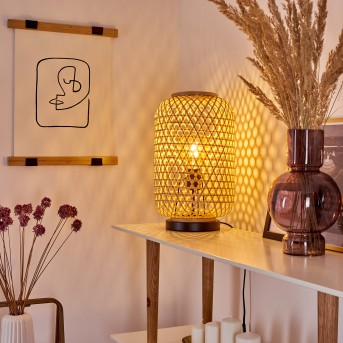Lampe de table Quinto Noir, 1 lumière
