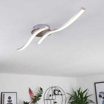 Plafonnier Grossarl LED Nickel mat, 2 lumières