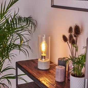 Lampe de table Kumotu Chrome, Gris, 1 lumière