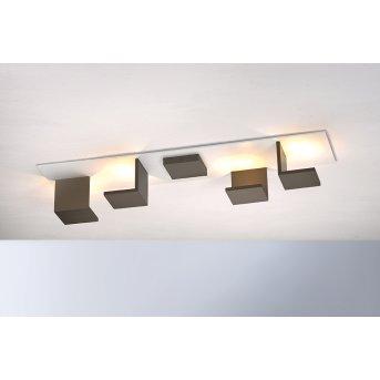 Plafonnier Bopp-Leuchten REFLECTIONS LED Blanc, Bronze, 4 lumières