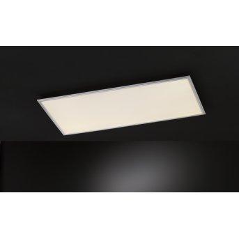 Plafonnier Wofi MILO LED Argenté, 1 lumière, Télécommandes, Changeur de couleurs