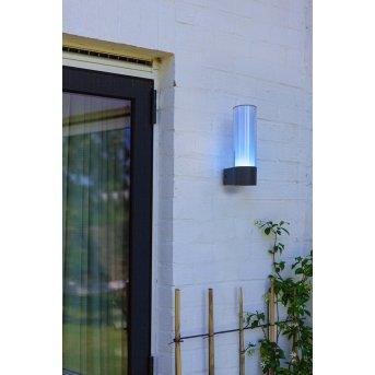 Applique murale d'extérieur Lutec DROPA LED Anthracite, 1 lumière, Changeur de couleurs