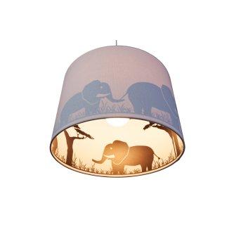 Suspension Waldi Elefant Gris, 1 lumière