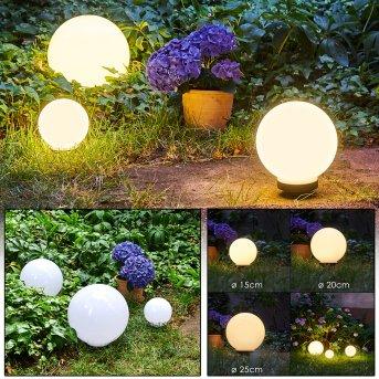 Boule lumineuse Campinas LED Noir, Blanc, 1 lumière