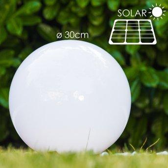 boule lumineuse Solar LED Acier inoxydable, 2 lumières