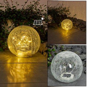 lampe solaire Jurmala LED Transparent, 1 lumière