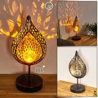 lampe solaire Protaras LED Noir doré, 1 lumière