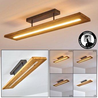 Plafonnier Adak LED Gris, 1 lumière