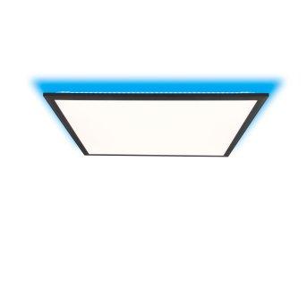 Plafonnier Brilliant Allie LED Noir, 1 lumière, Télécommandes