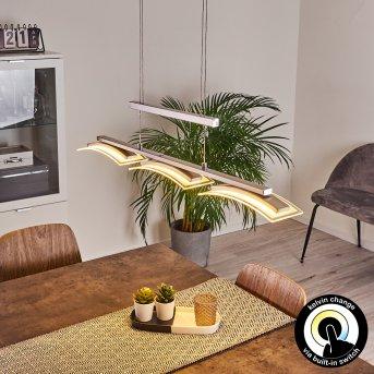 Suspension Bolonda LED Nickel mat, 3 lumières