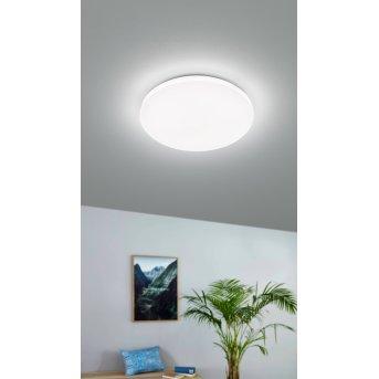 Plafonnier Eglo FRANIA-M LED Blanc, 1 lumière, Détecteur de mouvement