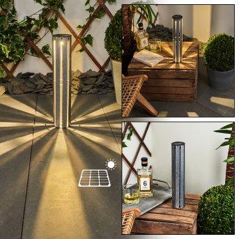 lampe solaire Hankinson LED Argenté, 1 lumière