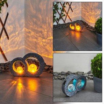 lampe solaire Siviri LED Bleu, Gris, Transparent, 1 lumière