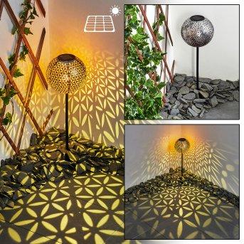 lampe solaire Samoao LED Noir, Argenté, Cuivre, 1 lumière