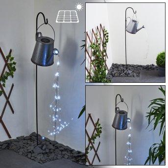 lampe solaire Isernia LED Argenté, Rouille, 80 lumières