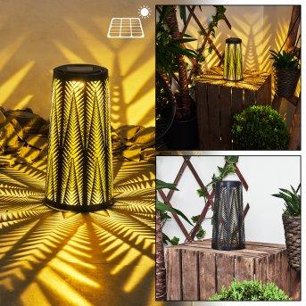 lampe solaire Météo LED Noir, Or, 1 lumière