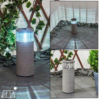 lampe solaire Mesabolo LED Noir, Gris, 1 lumière