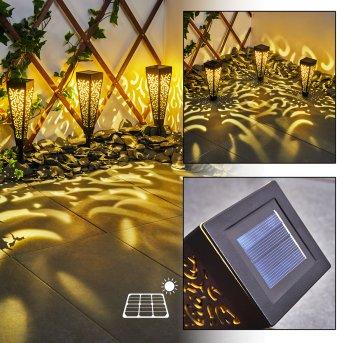 lampe solaire Staranzano LED Jaune, Noir, 1 lumière