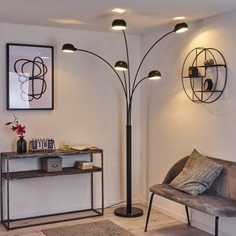 Lampadaire Nikkala Noir, 5 lumières