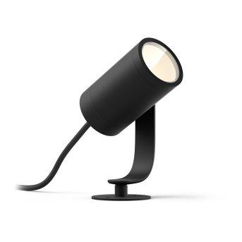 Projecteur Philips Hue Ambiance White & Color WACA Lily LED Noir, 1 lumière, Changeur de couleurs