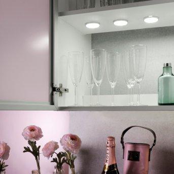 lampes pour bandeaux Leuchten Direkt THEO LED Argenté, 3 lumières