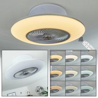 Ventilateur de plafond Chaville LED Blanc, 1 lumière, Télécommandes