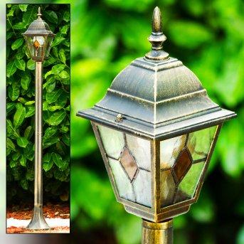 Lampadaire d'extérieur Antibes Brun doré, 1 lumière