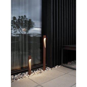 Borne d'éclairage Louis Poulsen Flindt LED Rouille, 1 lumière