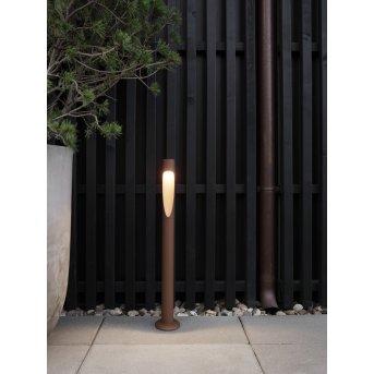 Borne lumineuse Louis Poulsen Flindt LED Rouille, 1 lumière
