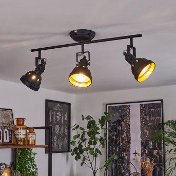 Plafonnier Tita Noir, 3 lumières