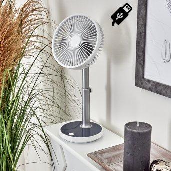Ventilateur de table Visting LED Gris, Blanc, 1 lumière