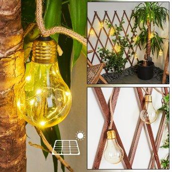 guirlande lumineuse solaire Trygsland LED Brun, 50 lumières